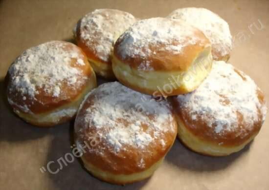 пончики с черникой рецепт